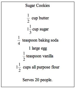 What Will Need To Be Done In Order Make Enough Serve 30 People Show Your Work Neatly And Then Re Write The Recipe Card